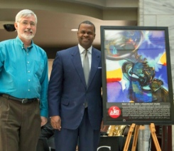 John Ryan and Mayor Kasim Reed at press conference - photo by Matt Alexandre