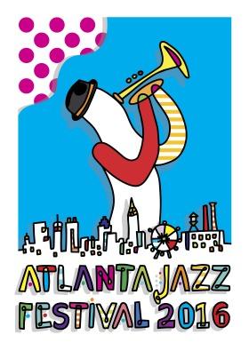 Jazzlanta Poster by artist Yoyo Ferro